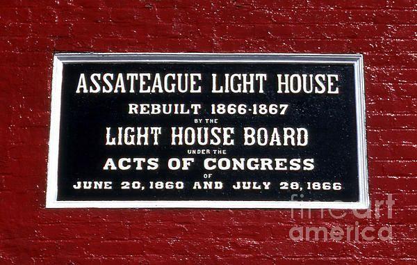 Assateague Island lighthouse in VA