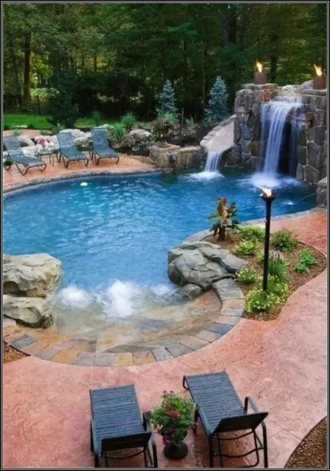 Pin By Sea Cat Design On Swimming Pool Desaign Cool Swimming Pools Swimming Pools Backyard Swimming Pool Landscaping