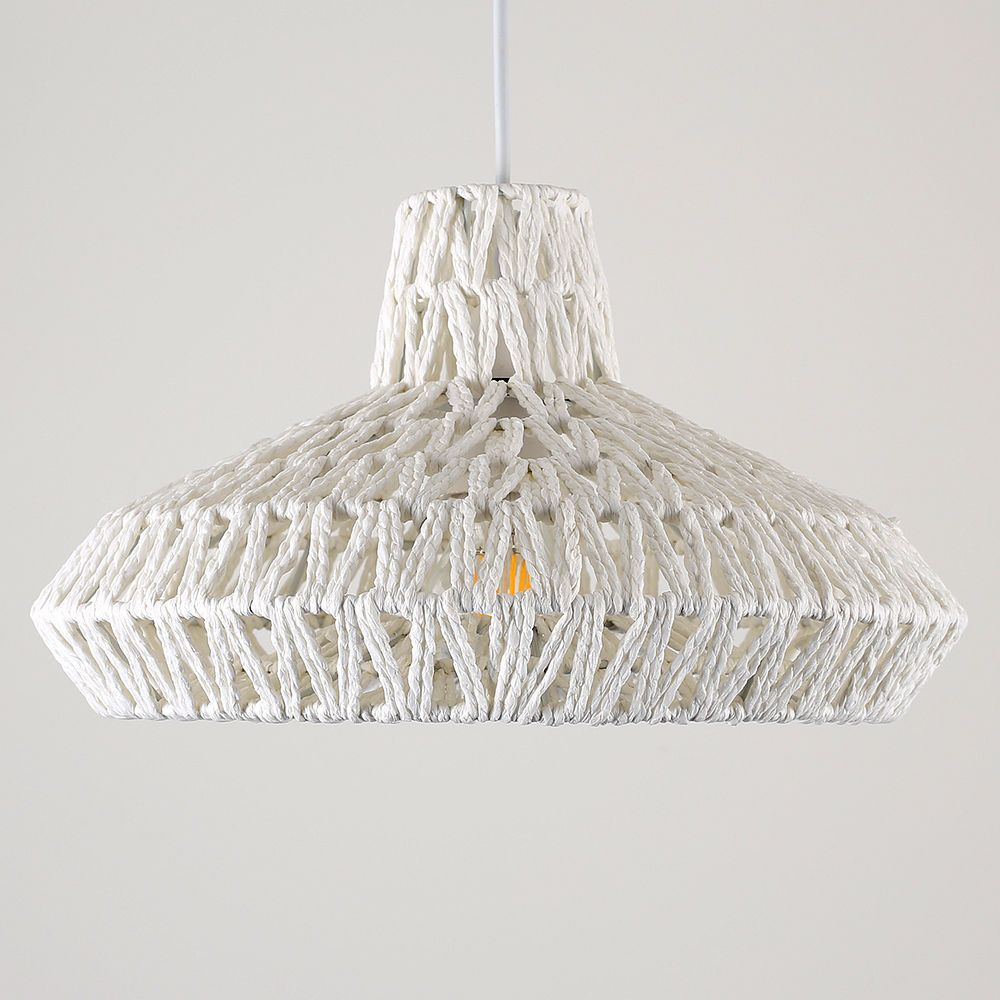 lounge ceiling lighting. Contemporary White Woven Rope Ceiling Pendant Light Shade Lounge Lampshade Home Lighting