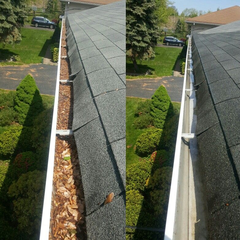 Gutter Cleaning In Parsippany, NJ #halfroundgutters #halfgutter #copper  #coppergutters #commercial