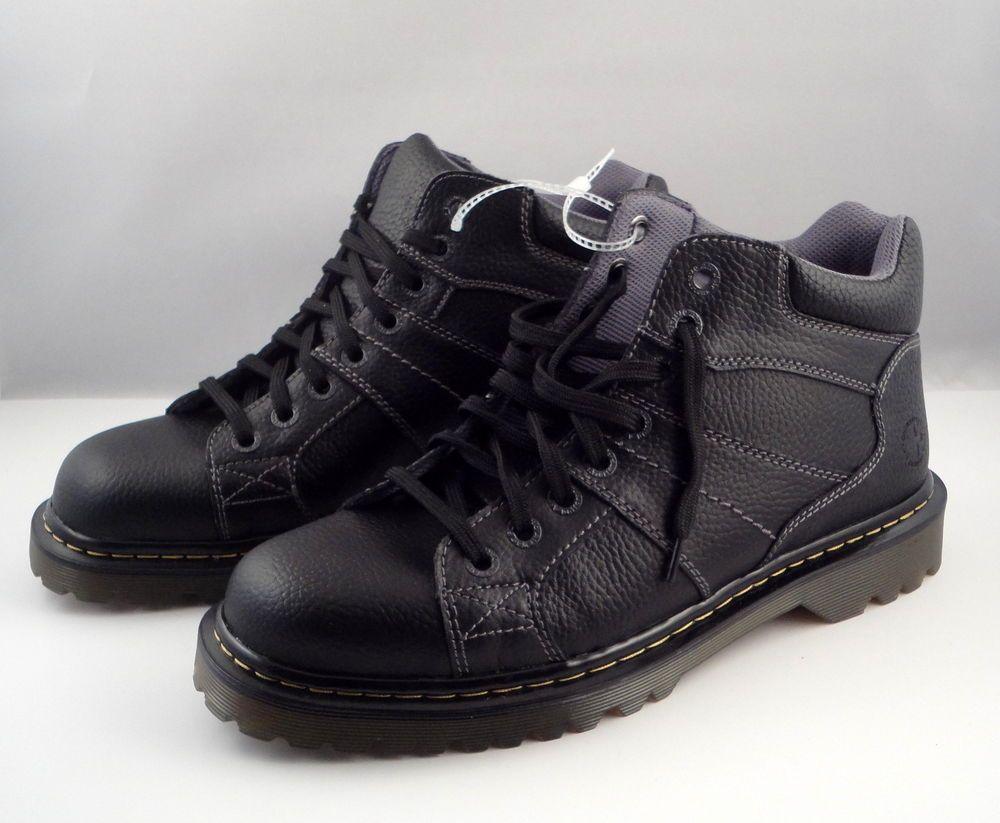 1f9ed216478 Details about Dr. Martens   Black Harrisland Leather Ankle Boots ...