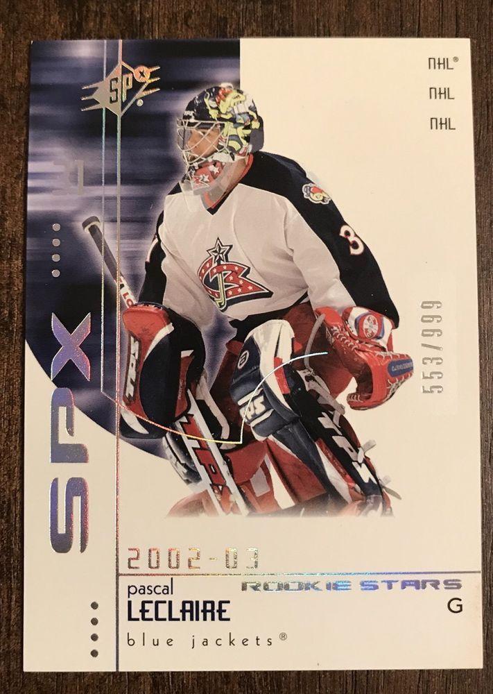 2002-03 Pascal Leclaire RC Upper Deck SPX Rookie Card #176 Columbus Blue Jackets
