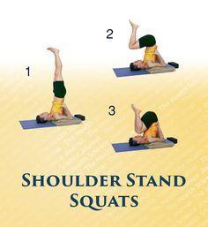 shoulder stand squats