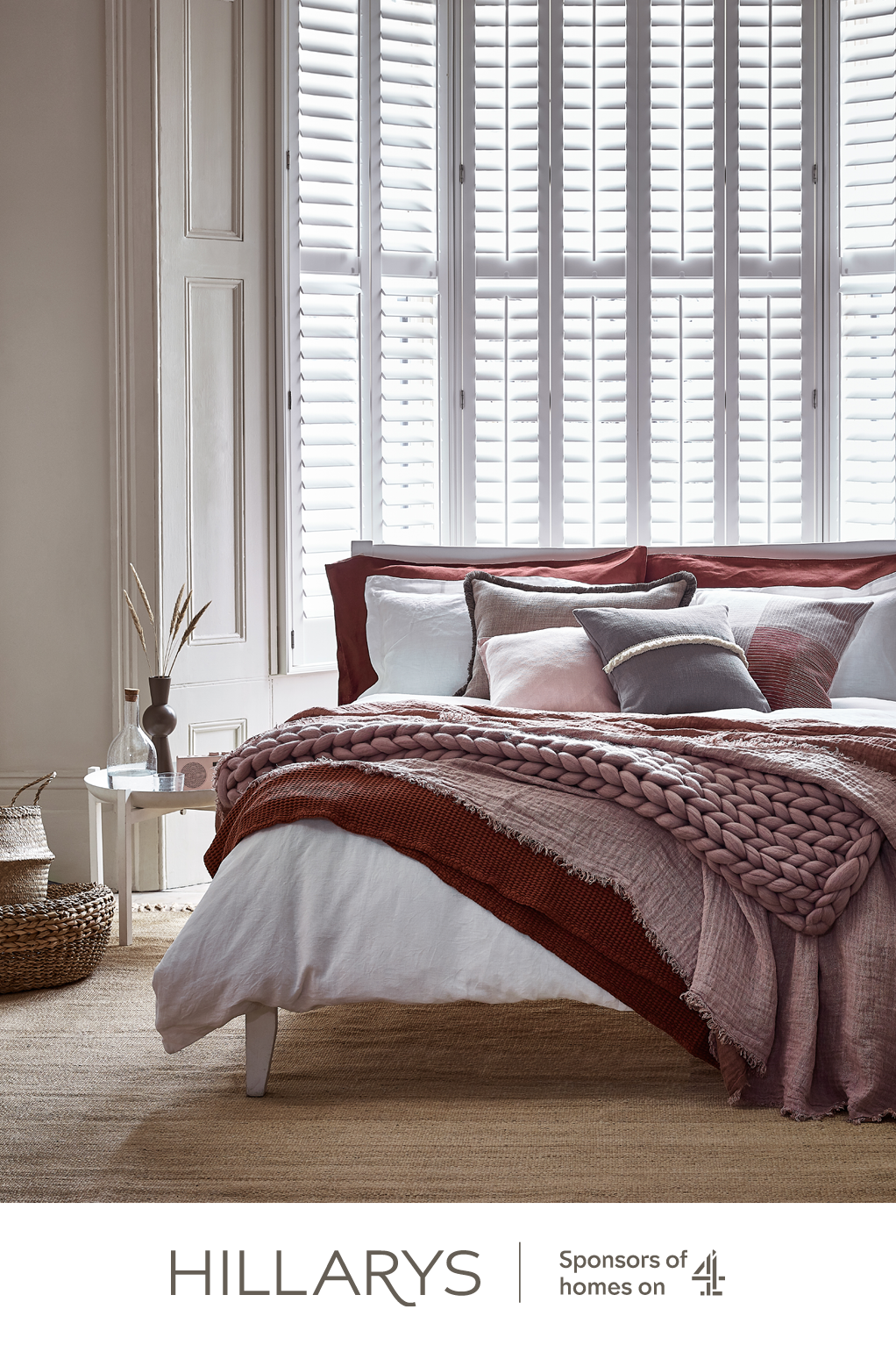 Full height shutters look sensational in bedrooms, giving