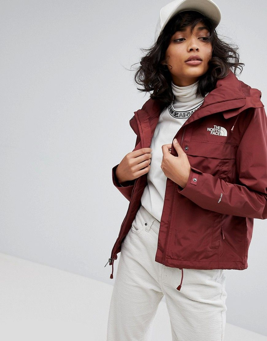 The North Face Short Anorak In Burgundy Red North Face Shorts Womens Spring Coat The North Face [ 1110 x 870 Pixel ]