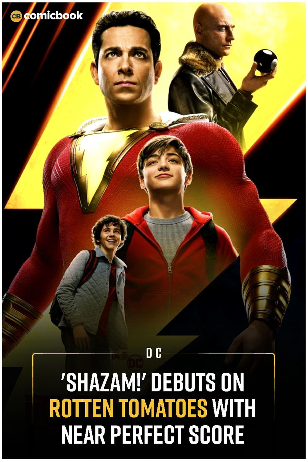 Shazam!' Debuts on Rotten Tomatoes With Near Perfect Score