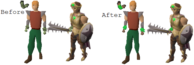 Karamja gloves redone (rough draft images made in paint
