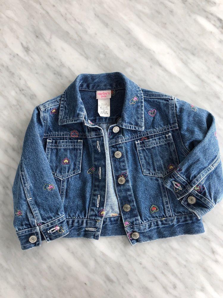 caa7ed6b5920 Carters Kids Toddler Girls Denim Jacket Size 2t  fashion  clothing ...