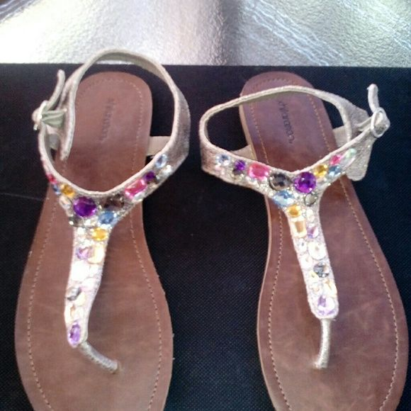 I just discovered this while shopping on Poshmark: Multi colored sandals   NWT. Check it out!  Size: 9.5