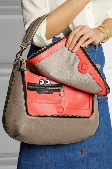 Anya Hindmarch - Maxi Zip textured-leather shoulder bag