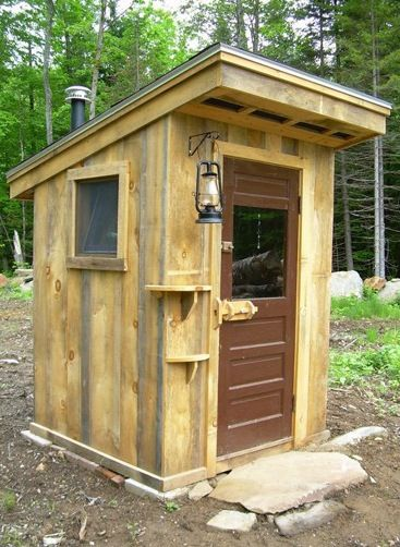Modern outhouse with ventilation and lighting