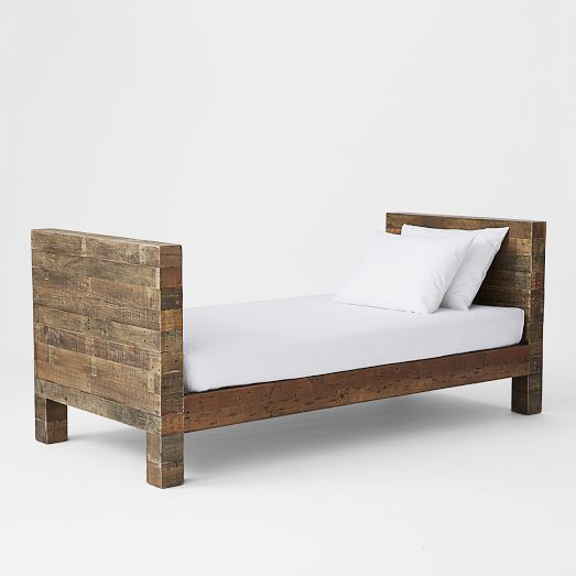 Charming Emmerson Reclaimed Wood Daybed   Natural | West Elm