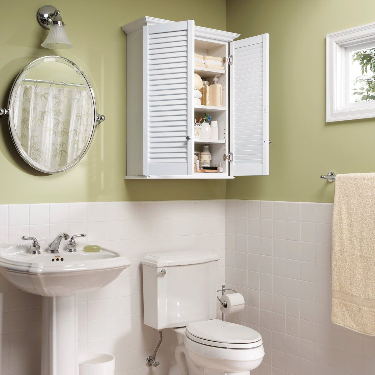 Make a Super-Simple Bath Cabinet | Simple bathroom, Bath ...
