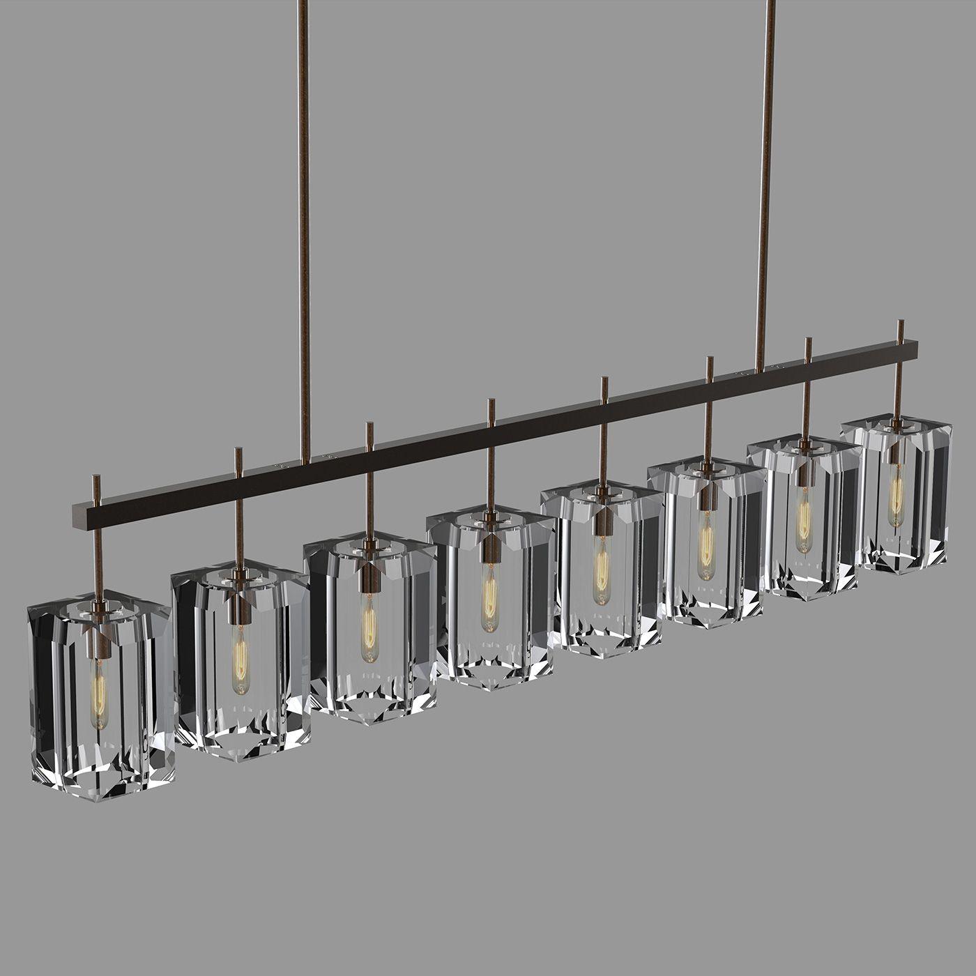 Monceau Linear Chandelier By Fine Art Lamps
