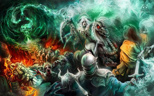 Epic War Fantasy Wallpaper Zombie Wallpaper Black Magic Cool Zombie Wallpapers