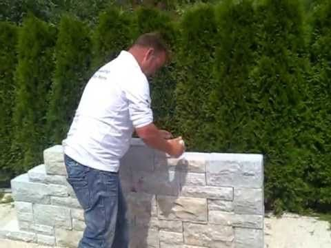 naturstein mauer massiv schnellbausystem gartenmauer youtube office pinterest garten. Black Bedroom Furniture Sets. Home Design Ideas