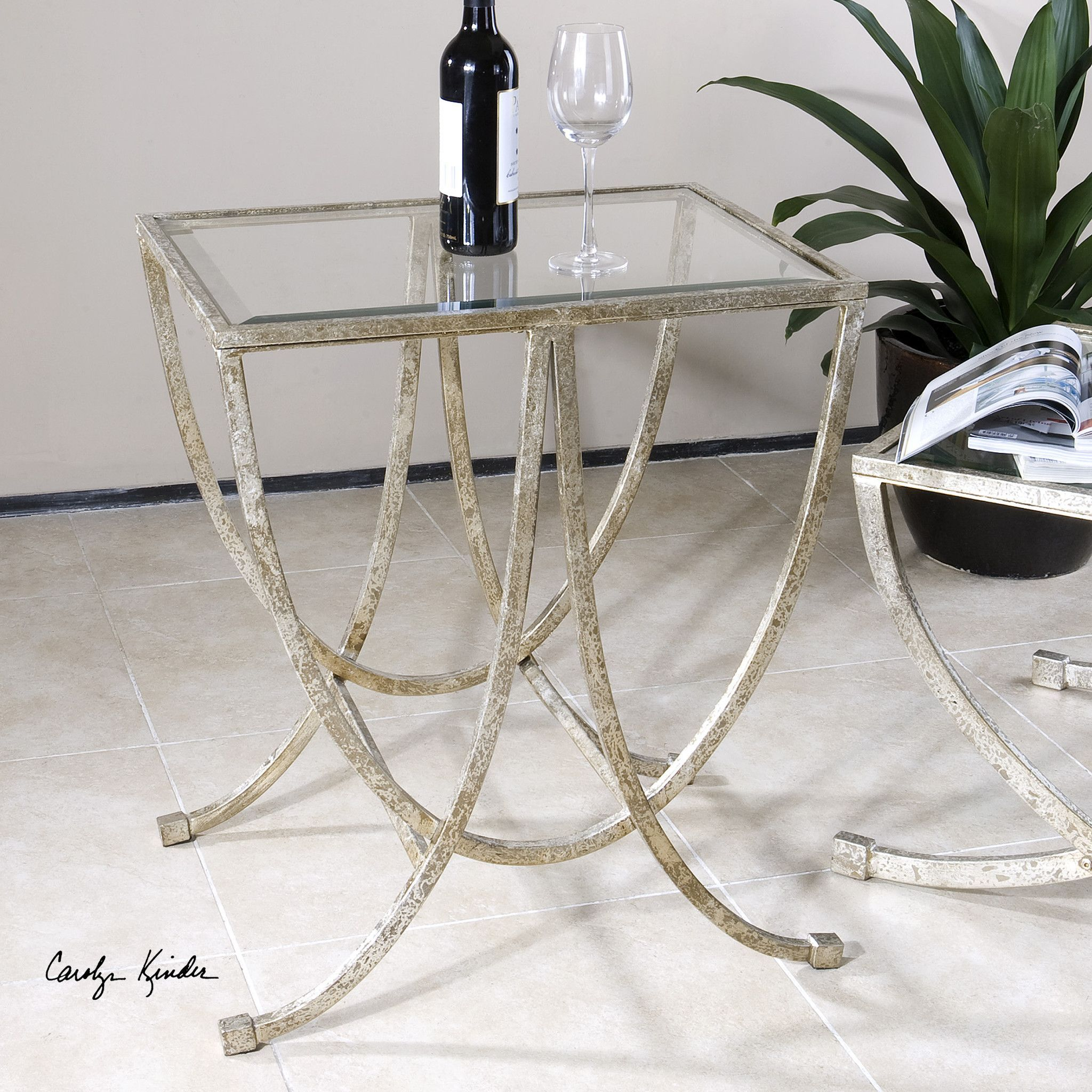 Uttermost Marta Antiqued Silver Side Table Products Pinterest