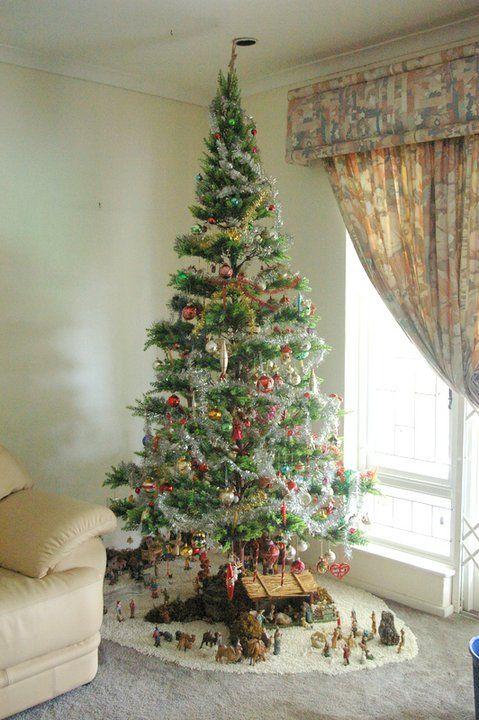 Nativity Set Under The Christmas Tree 3