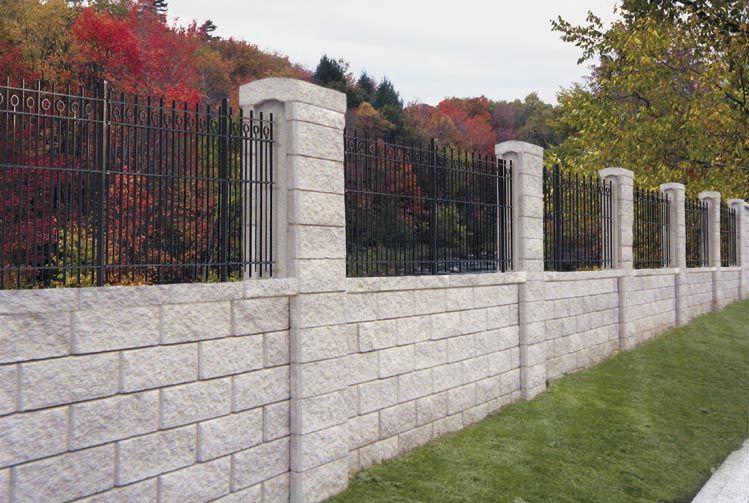 Allan Block Fence System - Nitterhouse Masonry | Backyard ...