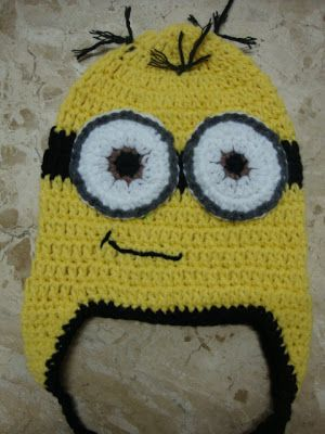 Minion Crochet Hat - adapted pattern