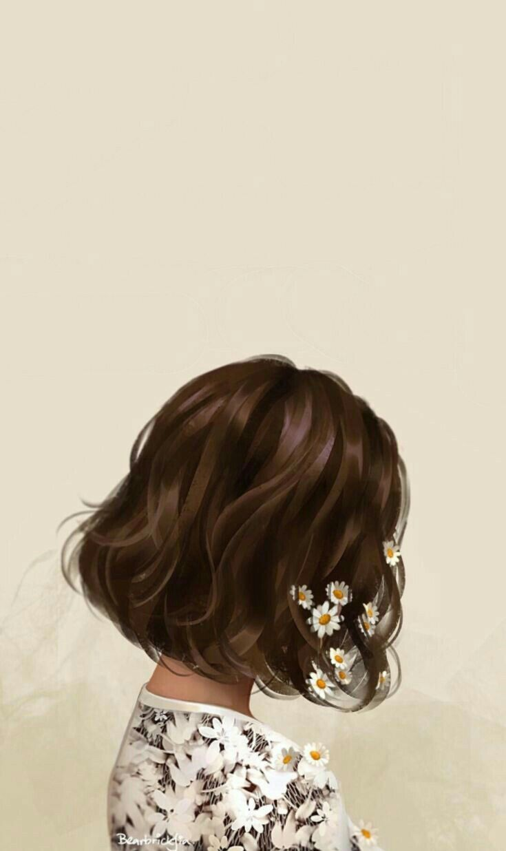 Mentahan Cover In 2020 Hair Illustration Girls With Flowers Cute Tumblr Wallpaper