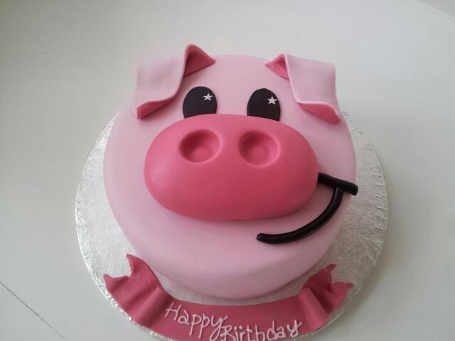 Terrific Pig Cake How Cute Piggy Cake Pig Birthday Cakes Pig Cake Funny Birthday Cards Online Inifodamsfinfo