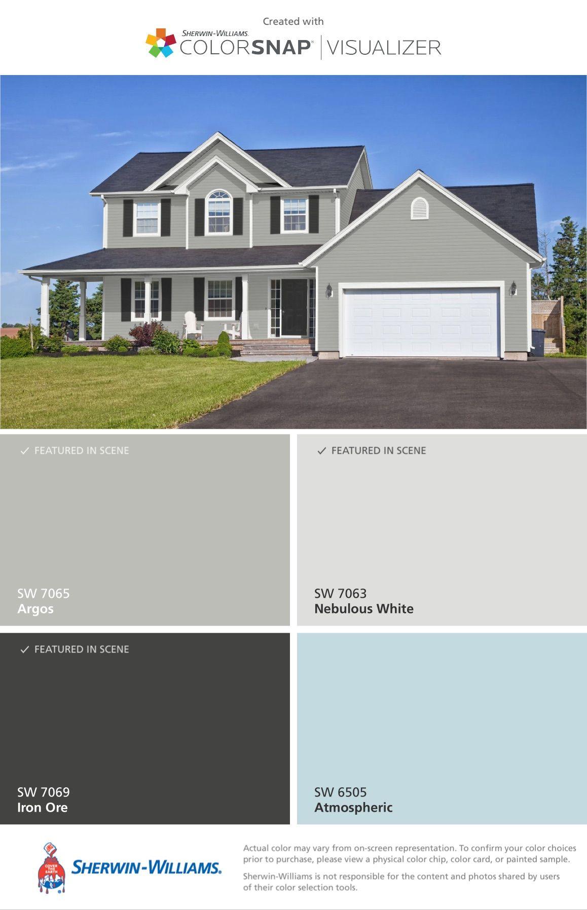 Exterior Color Palette: Argos - Main Color, Nebulous White - Trim ...