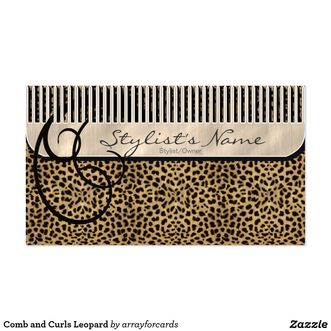 Comb and Curls Leopard Business Card Comb and Curls is a unique ...