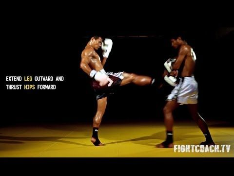 Muay Thai Front Kick Instructional Video Youtube Fight To