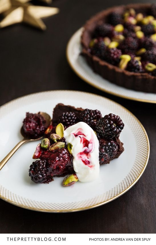 This magnificent tart is the perfect end to a filling Christmas meal. It's light and summery, but still has the necessary chocolate clout and decadent double thick cream to keep you happy.