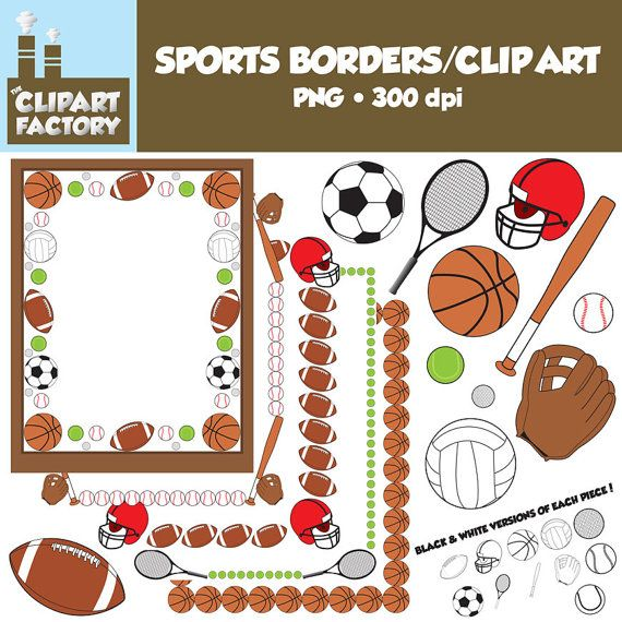 clip art sports borders clip art borders and assorted sports rh pinterest com sports page borders clip art sports clip art borders free