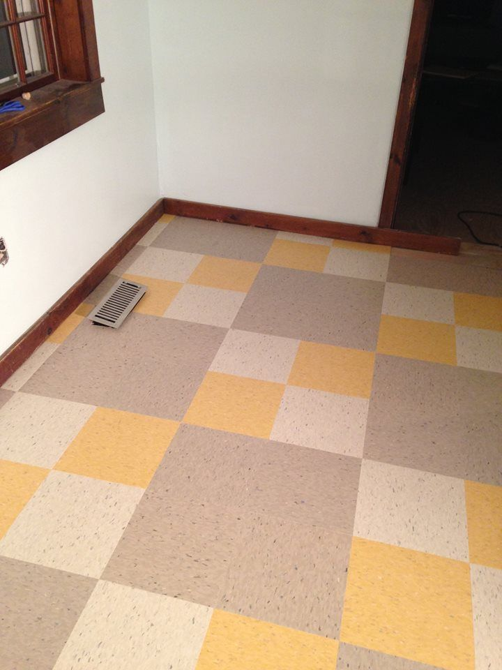 purchased armstrong vct tile from 3 different restores  finally finished my inspired kitchen floor  great bargains at the restore  purchased armstrong vct tile from 3 different restores   finally      rh   pinterest com
