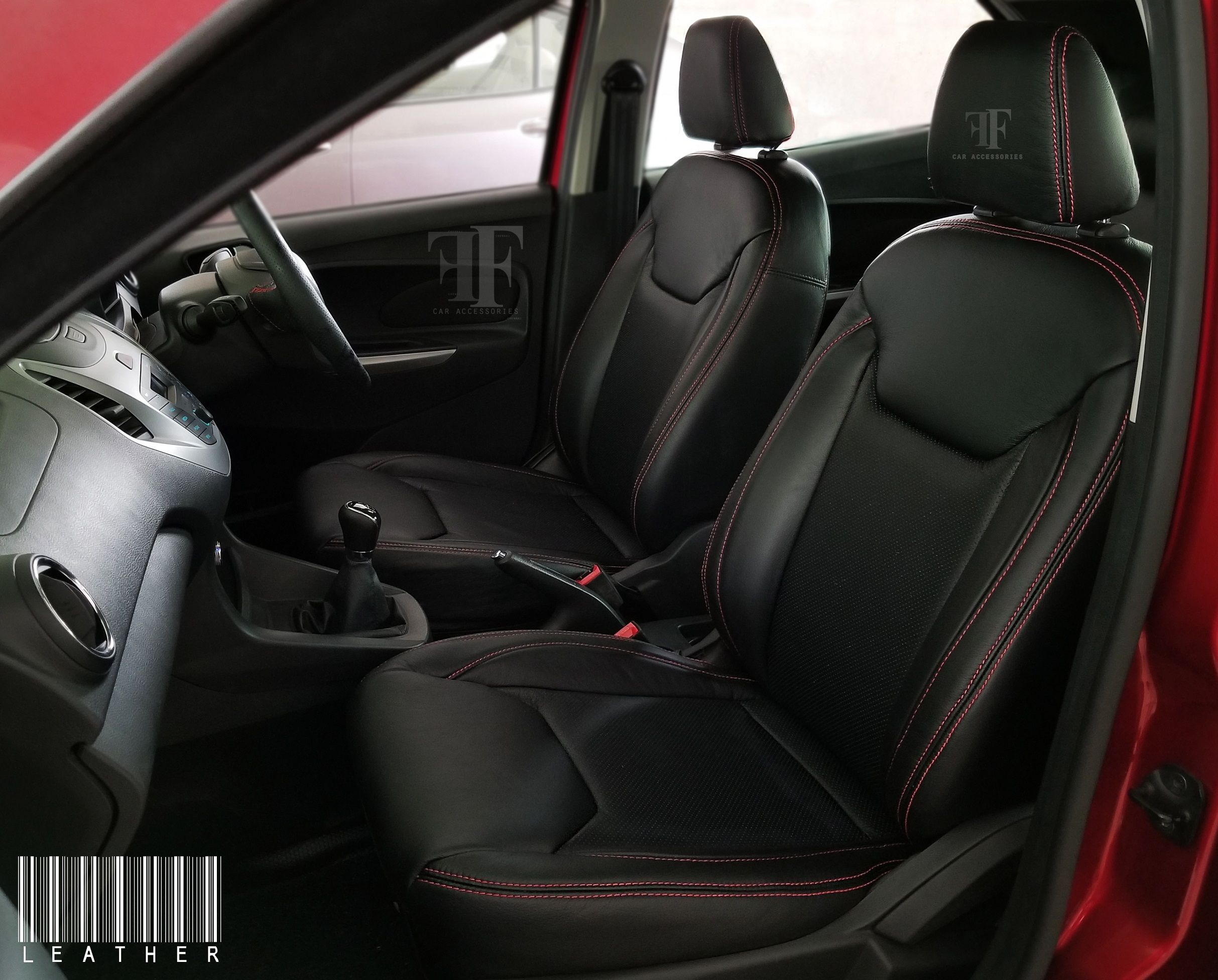 Visible Red Stitches Gives The Sporty Look This Seats Team Ff Car