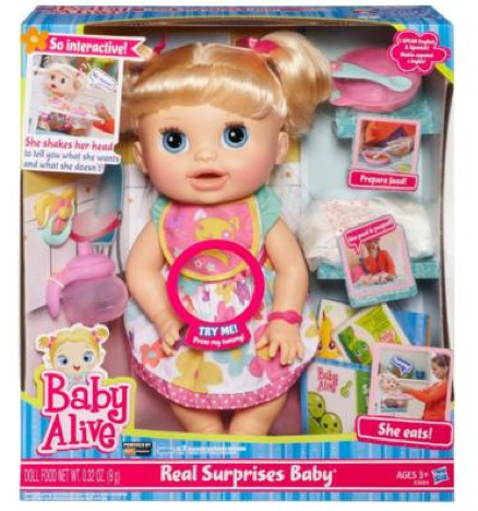 Baby Alive Real Surprises Doll Only 26 49 At Target Surprise Baby Baby Dolls Baby Alive