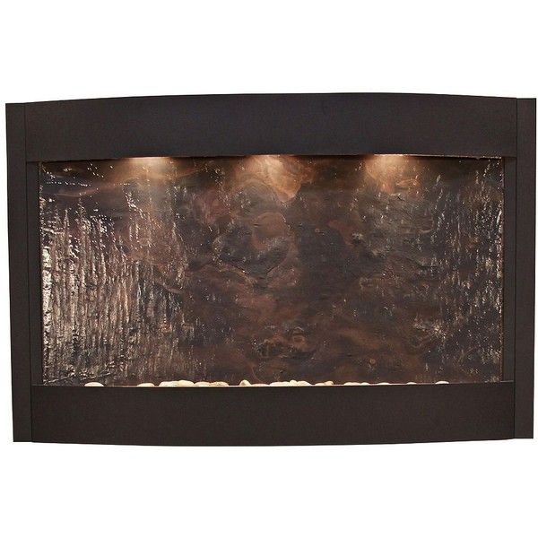 Adagio Calming Waters Featherstone Textured Black Wall Fountain
