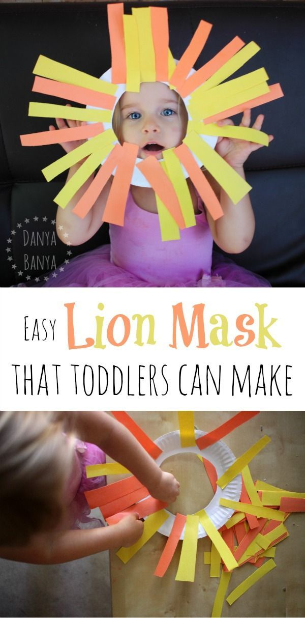 Easy paper plate lion mask craft that