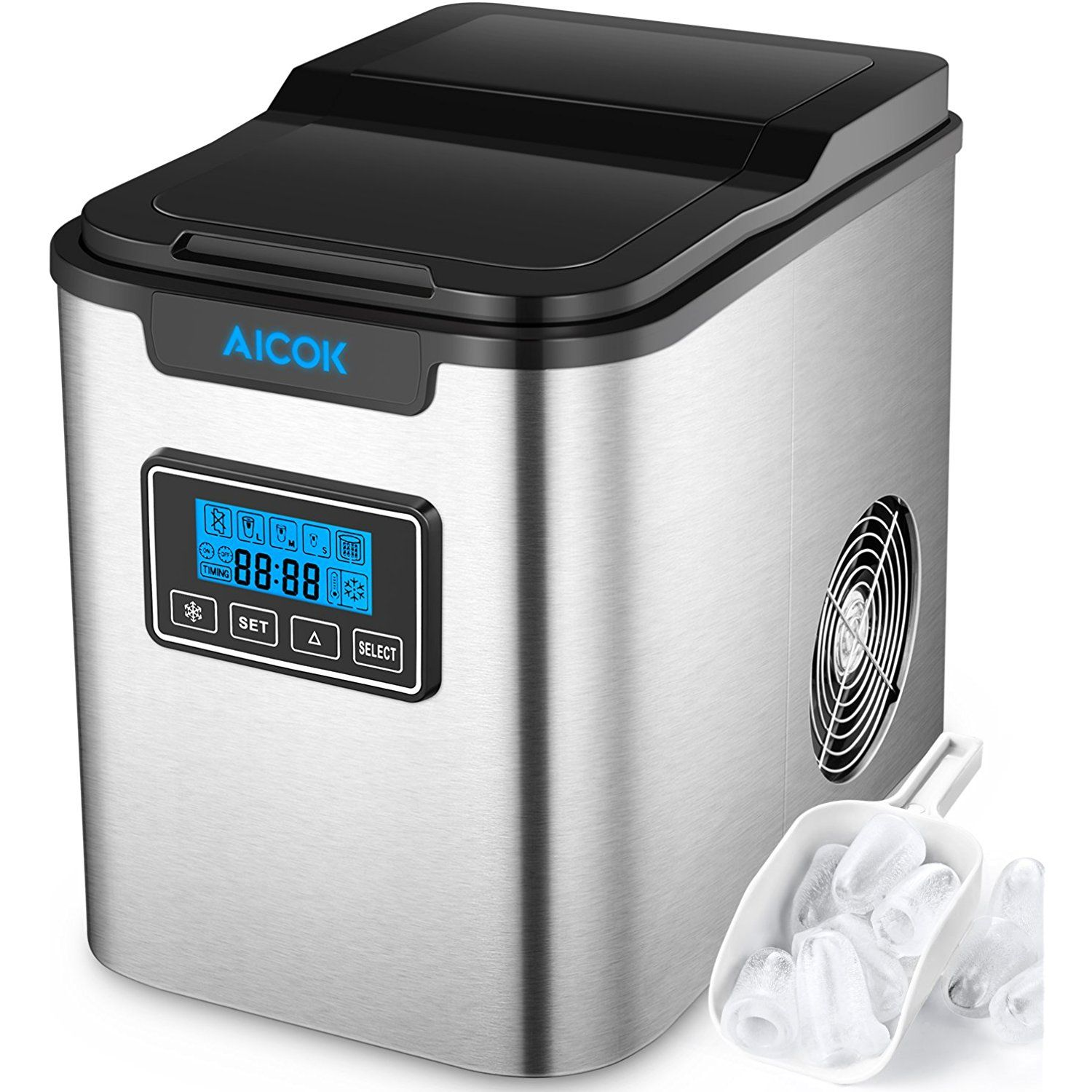 Aicok Ice Maker Counter Top Ice Maker Machine Portable
