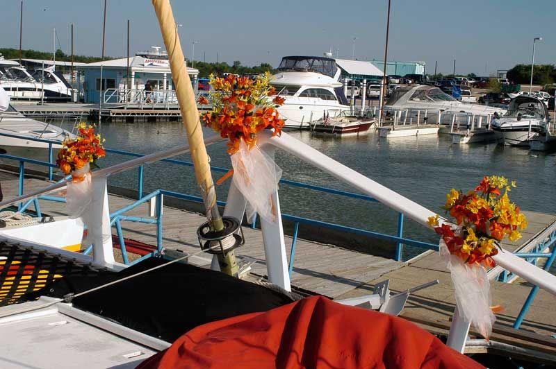 Boat wedding on lake lewisville serving dallas fort worth