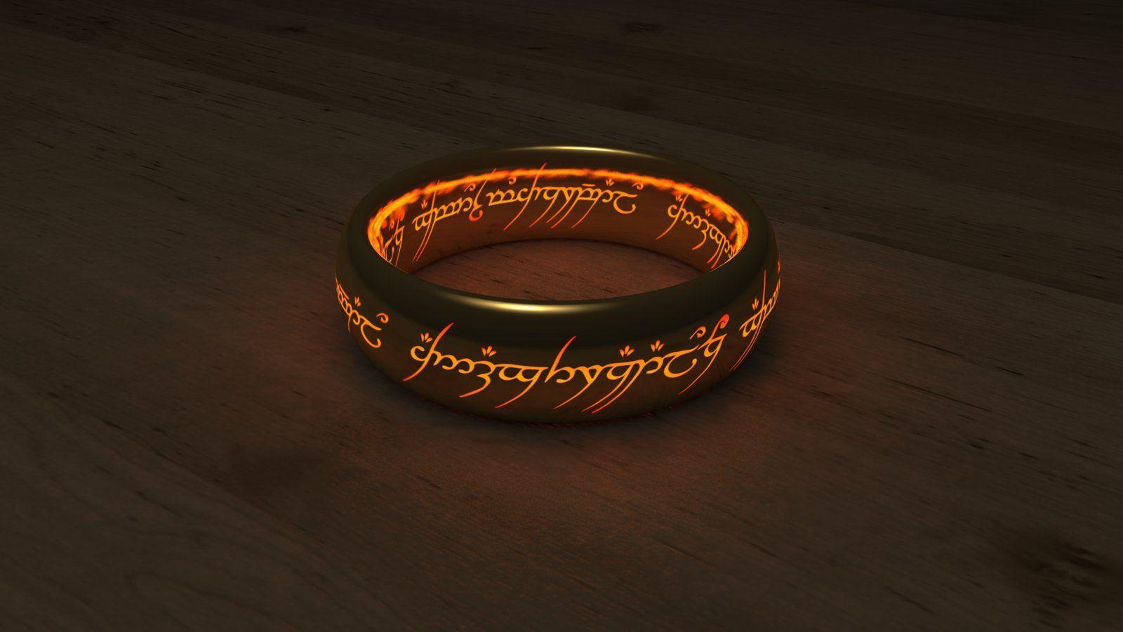 The One Ring Wallpaper Wallpapersafari One Ring Rings