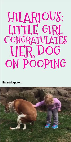 Hilarious Little Girl Congratulates Her Dog On Pooping Furry
