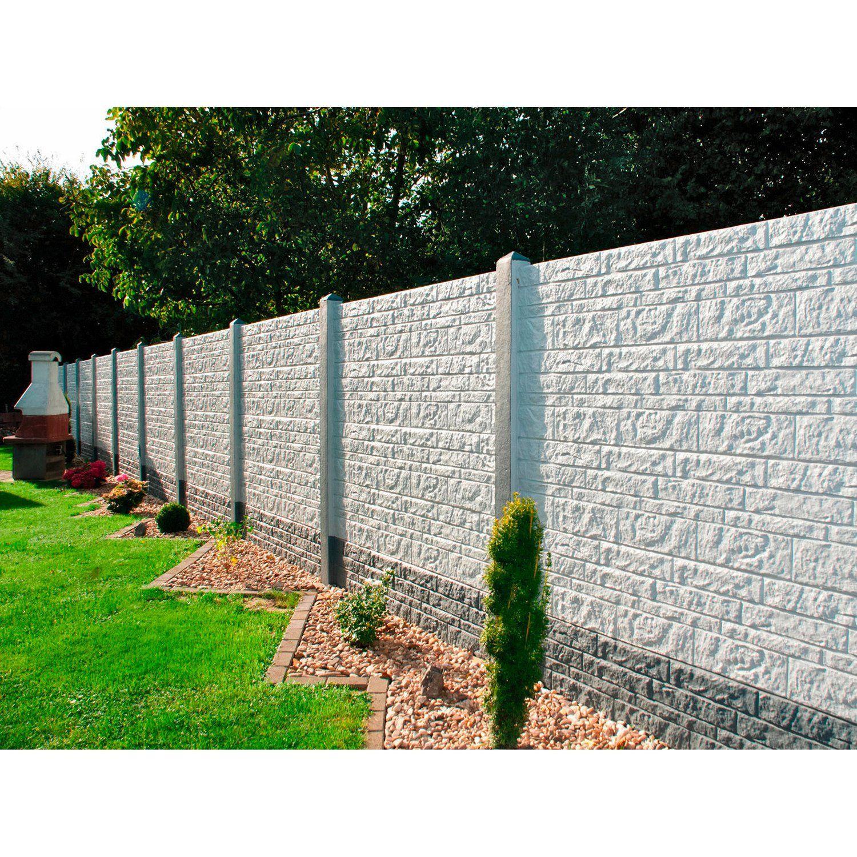Betonzaun Platte Fels 200 Cm X 38 5 Cm X 3 Cm Kaufen Bei Obi Betonzaun Zaun Zaun Garten