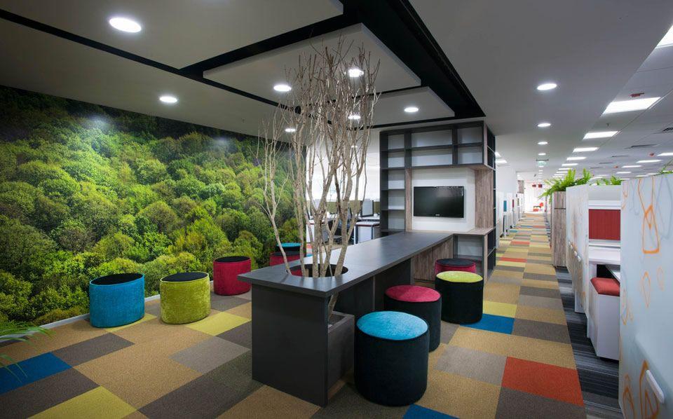 Cores estimulam e dão vida ao ambiente de trabalho #colour #office