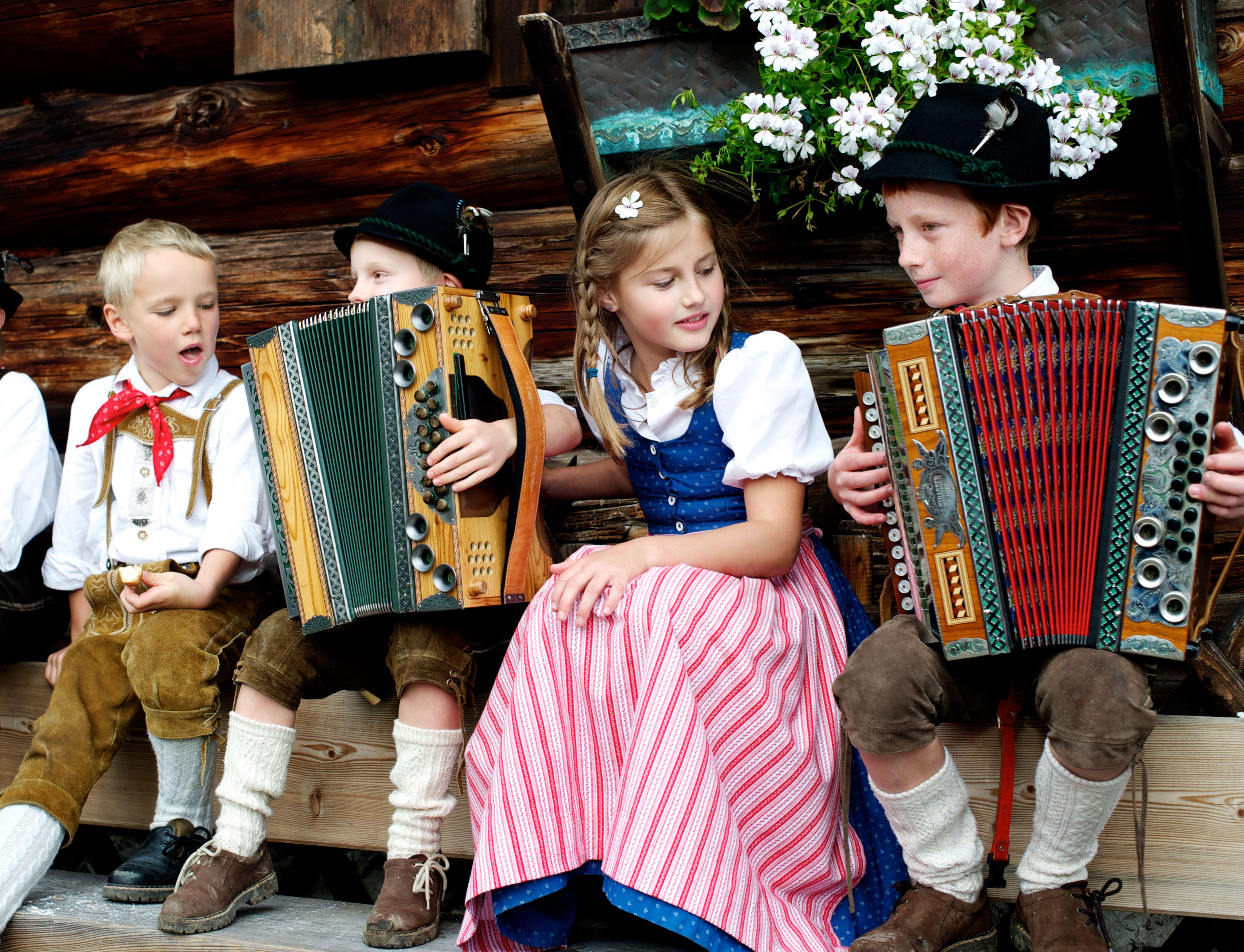 Bauernherbst - Kinder musizieren