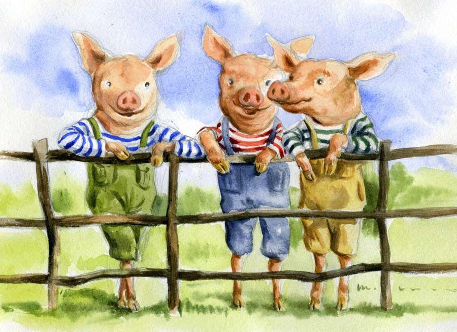 Presentation Illustration Pour Le Conte Les Trois Petits Cochons