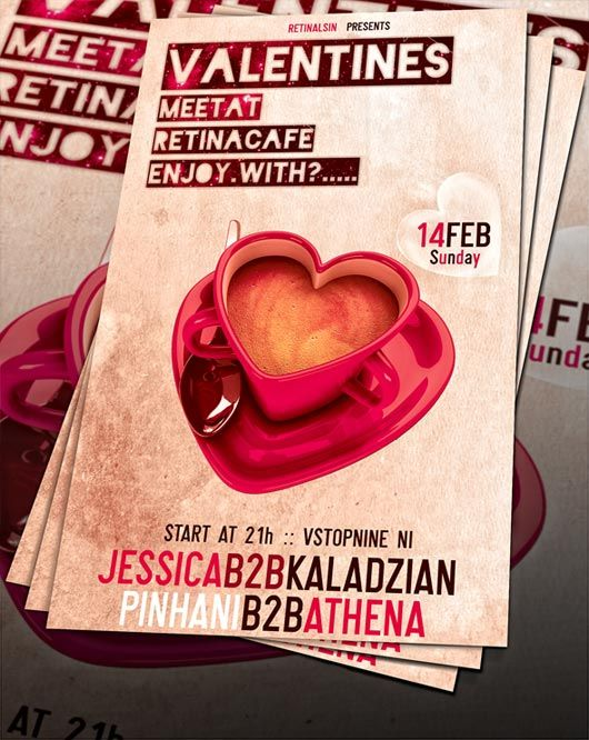Valentines Day Flyer Psd Lemontreete Pinterest Creative