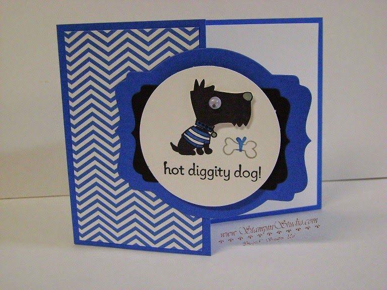 Stampin' Studio, Stampin' Up! Hot Diggity dog, Deco Label Framelits