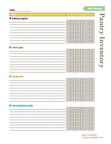 Free Printable Pantry Master List - Use It to Stock Your Pantry - free inventory list template