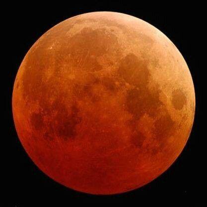 La luna, rojo