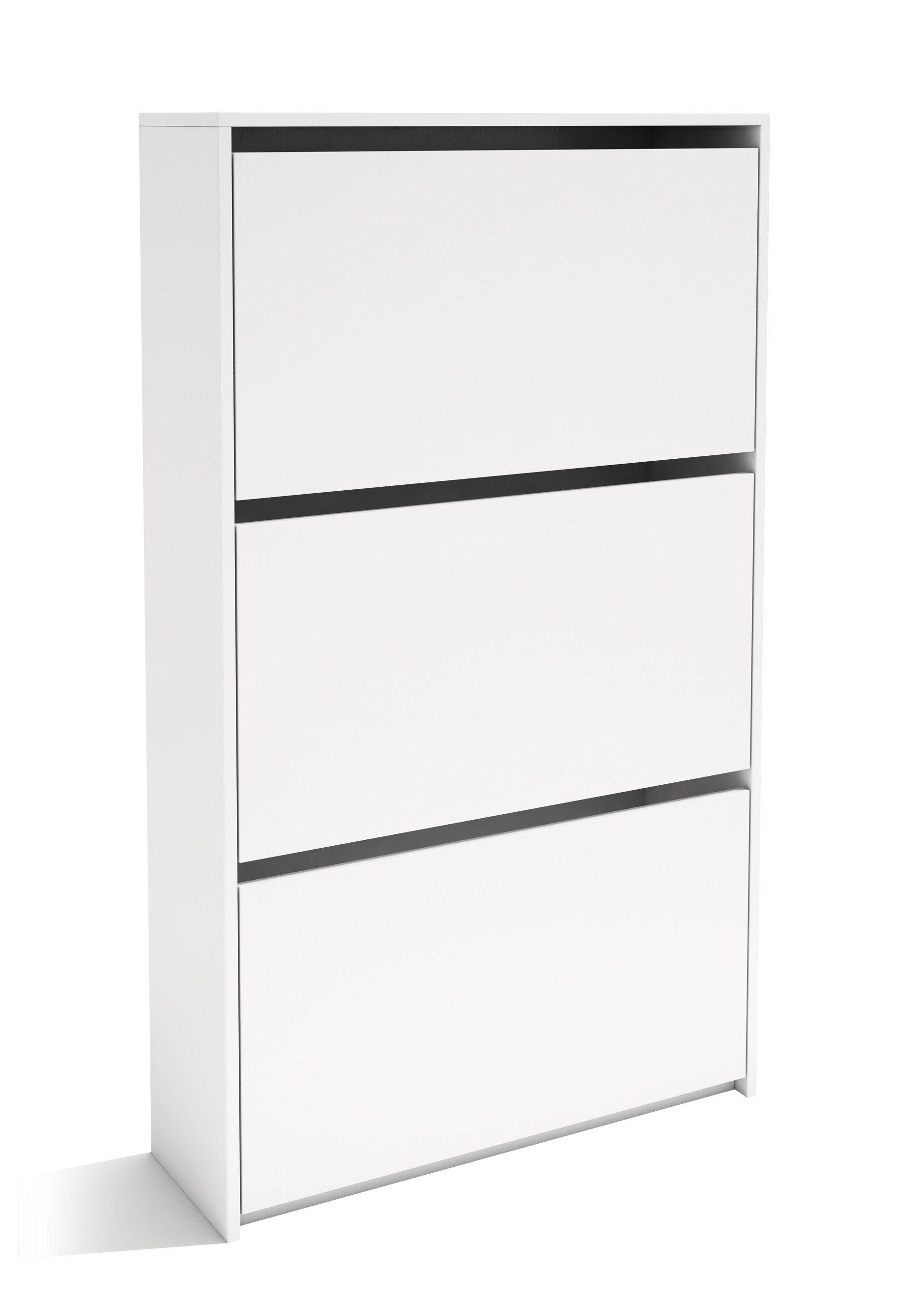 Comprar zapatero maine 3 puertas blanco escritorios for Zapatero pequeno blanco