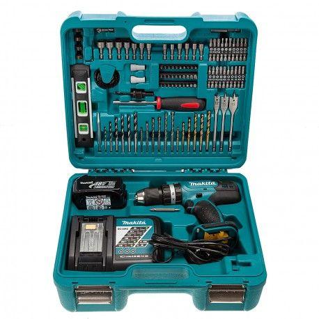 Perceuse Visseuse A Percussion Makita Dhp453rftk Li Ion 18v 1 X 3 0ah 100 Accessoires Makita Tools Makita Battery Tools